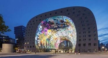 Main image The printing of the aluminium panels of Markthal Rotterdam