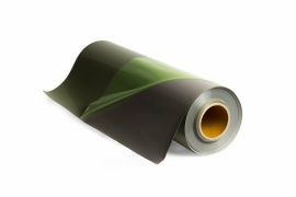 Silver reflective plotter cutting transfer film with adhesive carrier